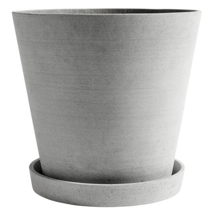 Hay Flowerpot ruukku ja lautanen, XXXL, harmaa