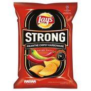Lays - Strong Chipsy ziemniaczane karbowane o smaku ostre...i limonki 210g