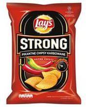 Lay's - Strong Chipsy ziemniaczane karbowane o smaku ostre...i limonki 210g