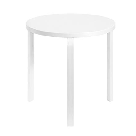 Artek Aalto pöytä 90C, kokovalkoinen
