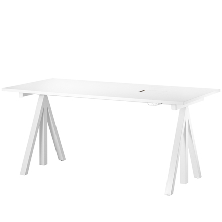 String String Works korkeussäädettävä pöytä 180 cm, valkoinen