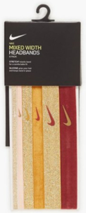 Nike Nike Mxd Width Novelty 6PK Met Gold/Pink Pannband & Armband