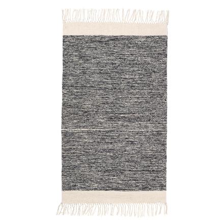 Ferm Living Melange kylpyhuoneen matto, musta-valkoinen