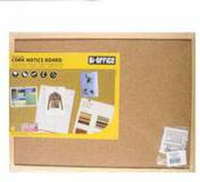Bi-Office - Tablica korkowa w ramie drewnianej 400x300 mm