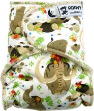 Anavy - Höschenwindel (XL-Nachtwindel) 7-18 kg - (ohne Einlagen) - Mammut - Druckknöpfe - (ohne Einlagen)