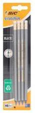 Bic - Evo Black ołówek z gumką 4 szt.