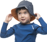 Houdini Liquid Sun Hat Kids Rider Blue/Saddle Brow