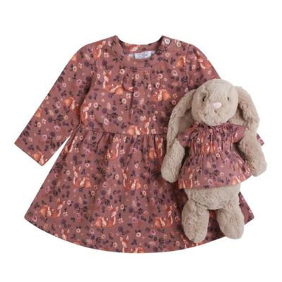 Hust & Claire Kiki kjole med rådyr, burlwood