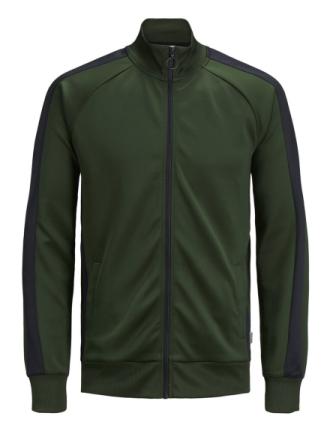 JACK & JONES Side Stripe Sweatshirt Men Green