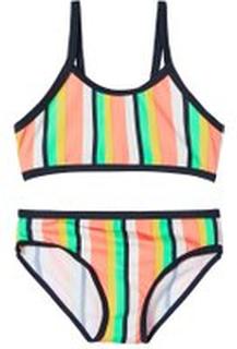 Name It - Gestreifter Bikini - Pink - Mädchen - Größe 86/92