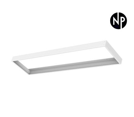 Hvit Ramme for LED Panel 1200x600