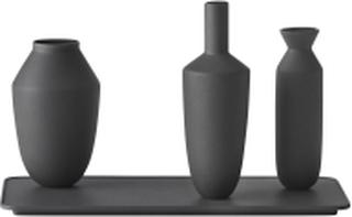 Balance Vase Set / Set Of 3 Vases, Black