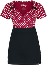 Mickey Mouse - Minni Polka Dots -T-skjorte - rød-svart-hvit