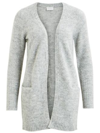 VILA Open Knitted Cardigan Women Grey
