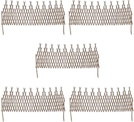 vidaXL Spaljéstaket pil 5 st 170x55 cm