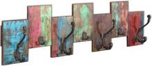 vidaXL Klädhängare med 7 krokar massivt återvunnet trä