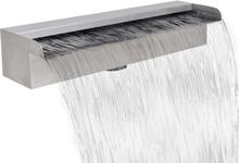 vidaXL Rektangulärt vattenfall poolfontän i rostfritt stål 45 cm