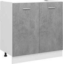 vidaXL Bunnskap til vask betonggrå 80x46x81,5 cm sponplate