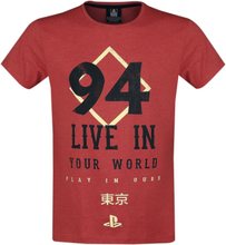 Playstation - Play In Ours -T-skjorte - rødmelert