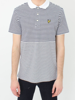Lyle & Scott Lyle och Scott Stripe Polo - Navy MARINEN XXL
