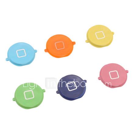 Solid Color Home Button Näppäimistö Key korjaus iPhone 4S (Assorted Colors)