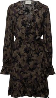 Naila Wrap Dress Kort Kjole Multi/mønstret Just Female