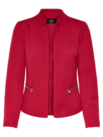 ONLY Zip Blazer Women Red
