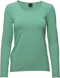 Ladies Shirt, Liitu T-shirts & Tops Long-sleeved Grønn Nanso