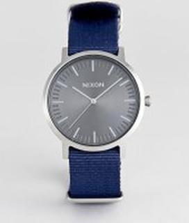 Nixon - A1059 Porter - Marinblå canvasklocka - Marinblå