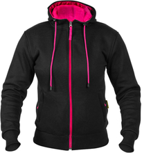 Twice MC Hoodie Kevlar Robin, black/pink, small MC-tillbehör dam