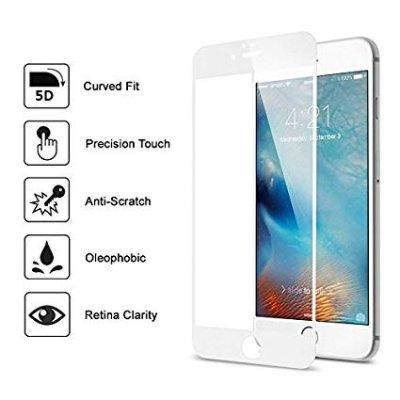 Skärmskydd för iPhone 7/8 Full Coverage 5D - Vit