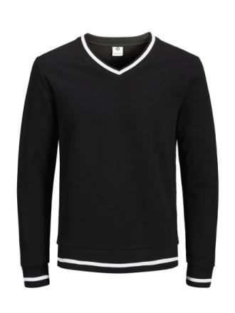 JACK & JONES Stripe Sweatshirt Men Black
