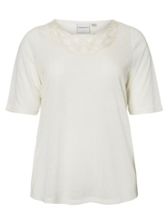 JUNAROSE Detailed Short Sleeved Top Women White