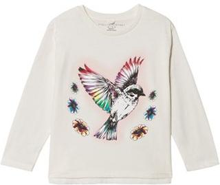Stella McCartney Kids Bird Print Farah Tröja Gräddvit 12 years