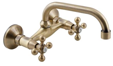 Elegant 'C' Type antik messing badeværelse hane køkken vandhane gam...