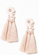 NLY Accessories Flower Tassle Earring Dusty Pink