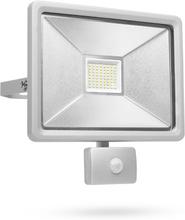 Smartwares LED-sikkerhedslys med sensor 50 W grå SL1-DOB50