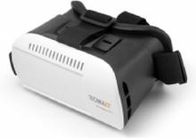 Technaxx VR Glasses TX-77, 135 x 200 x 110 mm, 390 g, Sort, Hvid, syntetisk ABS, Bomuld, Læder, Nylon, iOS, Android, 1 stk
