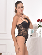 Black Push-up Cup Lace Teddy