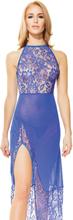 Elegant Sheer Lace Mesh Gown