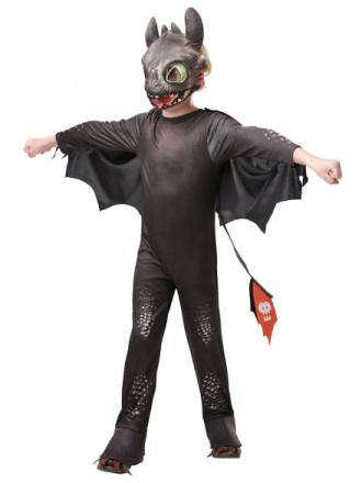 Draktränaren 3 Toothless Maskeraddräkt Barn - M