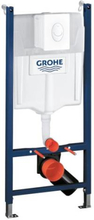 Grohe Rapid SL 3i1 indbygningscisterne m/hvid Skate Air trykknap, 113 cm
