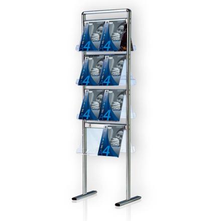 Brochurestativ Alumina 4x4 A4