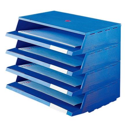 Brevbakkesystem 4xA4 Blå