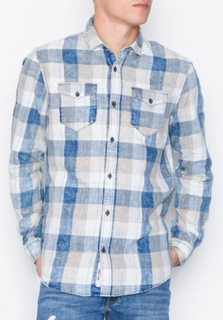Only & Sons onsCOZY Reg Ls Washed Check Shirt Skjortor Rutig