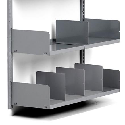 Hylde for deleplader 600x250 mm Sølvgrå