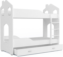 Køyeseng hus med skuff inkludert madrasser!