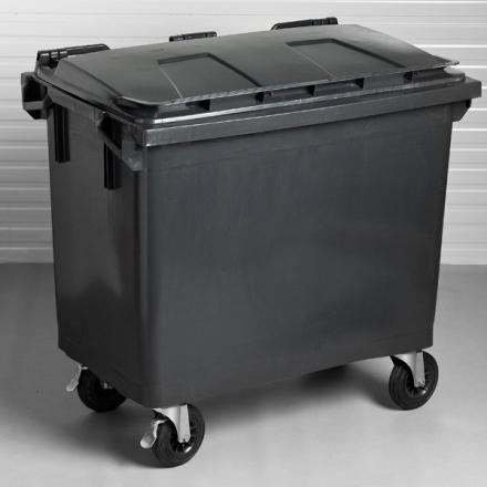 Affaldsbeholder 1000l Mørkegrå-Mørkegrå