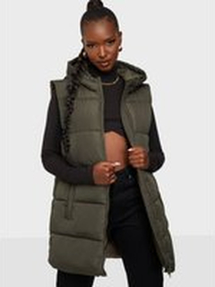 Pieces Pcbee New Puffer Vest Bc Black Olive
