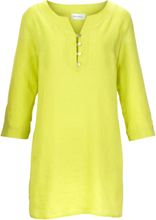 Tunika 3/4-ärm i rent linne från Peter Hahn grön